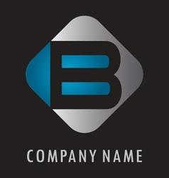 B business logo vector image