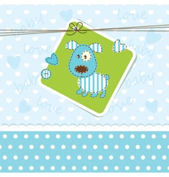 Baby background with puppy vector