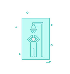 bathroom icon design vector image