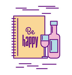 Be happy food vector