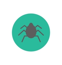 Bug silhouette icon vector image