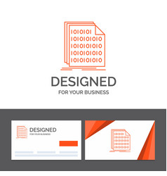 Business logo template for binary code coding vector