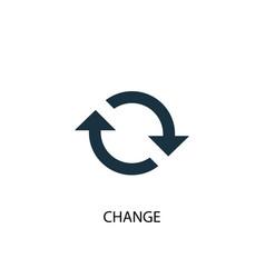 Change icon simple element change vector