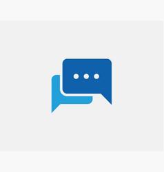 chat icon design element talk bubble speech sign vector image