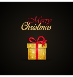 Christmas gift vector