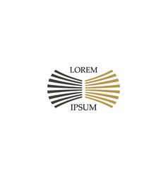 circle stripe company logo vector image