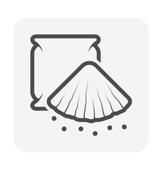 concrete powder icon design vector image
