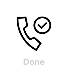 done call icon editable outline vector image
