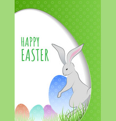 easter concept with bunny and eggs hidden in the vector image