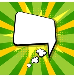 Empty colored speech bubble pop art green vector