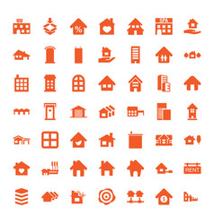 estate icons vector image