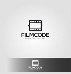 film code logo template vector image