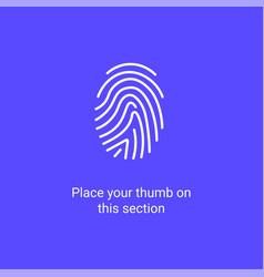 fingerprint scan app biometric logo icon finger vector image