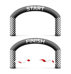 Finish start line arch isolated sport vector