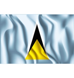 Flag of Saint Lucia Aspect Ratio 2 to 3 vector