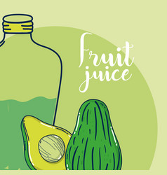 fruit juice card vector image