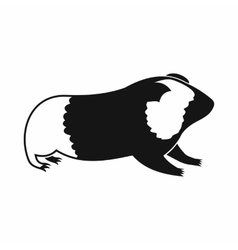 Hamster icon simple style vector