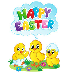 happy easter sign theme image 5 vector image