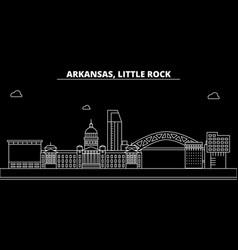 little rock silhouette skyline usa - little rock vector image