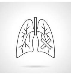 Lungs diseases flat line icon vector image