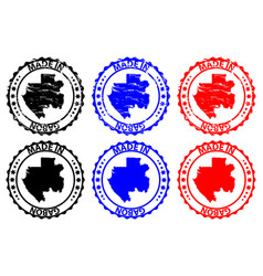 made in gabon rubber stamp vector image