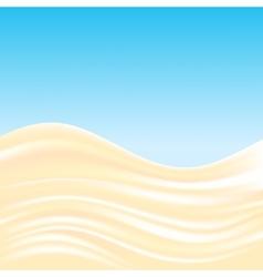 Milk cream waves background vector