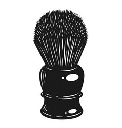 monochrome barber shaving brush concept vector image
