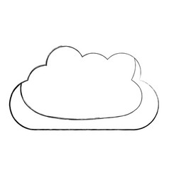 Monochrome blurred silhouette with mass of clouds vector