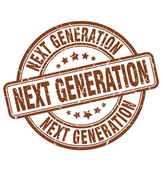 Next generation brown grunge stamp vector