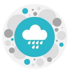 Of air symbol on rainfall icon vector
