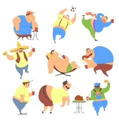 Overweight People Set vector