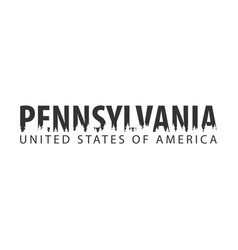 Pennsylvania usa united states of america text vector