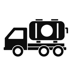 petrol truck icon simple style vector image