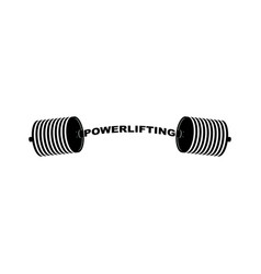 powerlifting barbell sports accessory lifting vector image