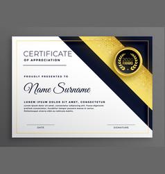 Premium diploma certificate of appreciate template vector