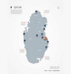 Qatar infographic map vector