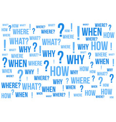 question mark - questions whose answers are vector image