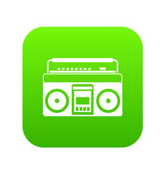 recorder icon digital green vector image