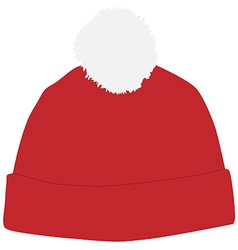 Red winter hat vector image