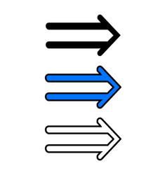 Right arrow icon vector