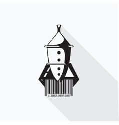 Rocket barcode vector