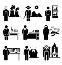 Scientist professor jobs occupations careers vector