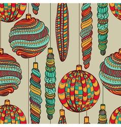 Seamless Christmas vintage pattern vector image