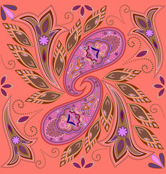 Seamless colorful pattern with paisley vector