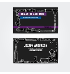 Steampunk style business cards design steampunk vector image