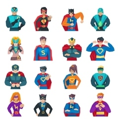 Superhero Icons Set vector