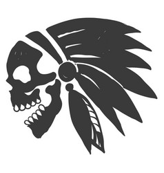 Tattoo indian skull vector