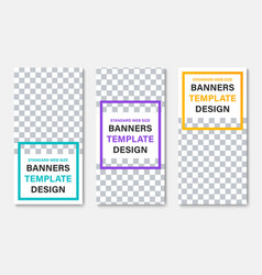 template white vertical web banners with place vector image