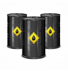 Three oil barels vector