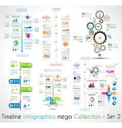 Timeline Infographic design templates Set 2 vector